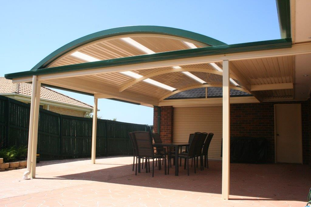 Curved Roof Awning